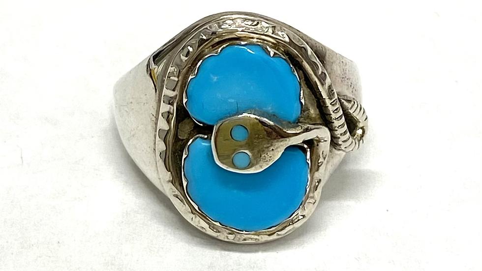 Turquoise Effie snake ring