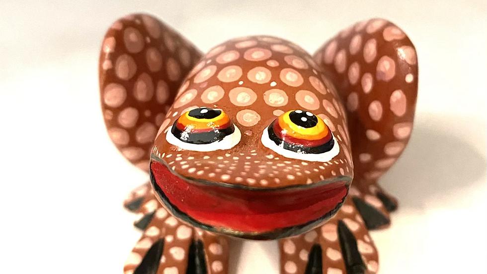 Brown Frog Oaxacan Alebrije