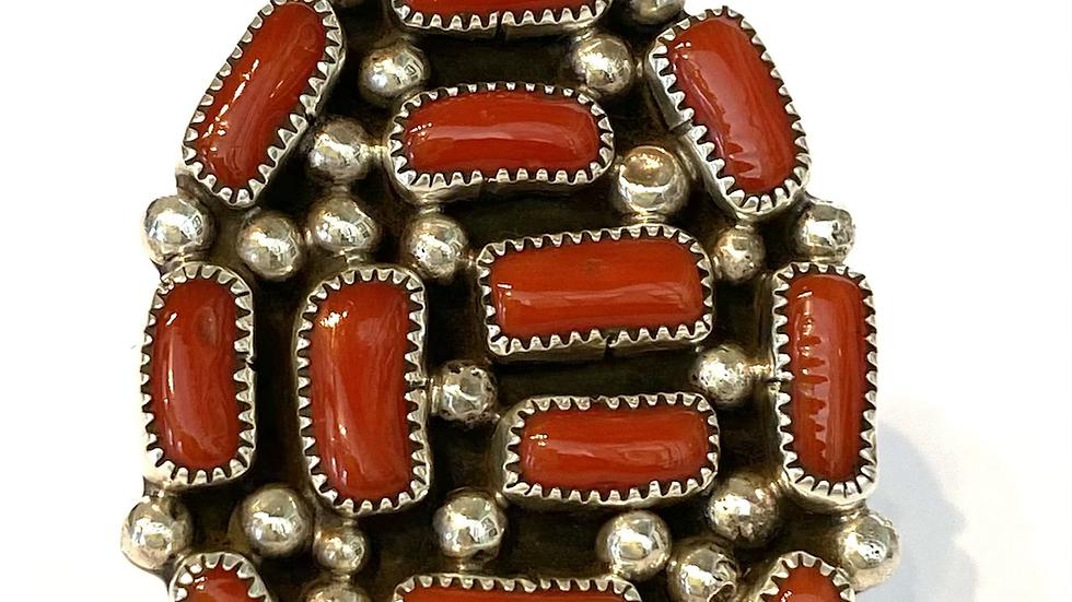 Coral M & T Jones ring
