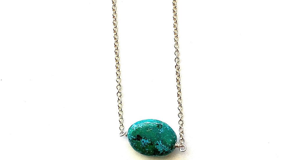 Single stone bead necklace