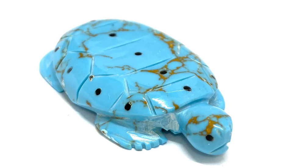 Turquoise turtle Zuni fetish