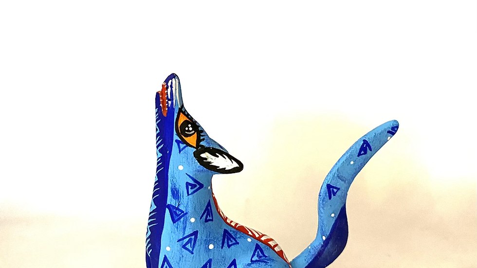 Blue Coyote Oaxacan Alebrije