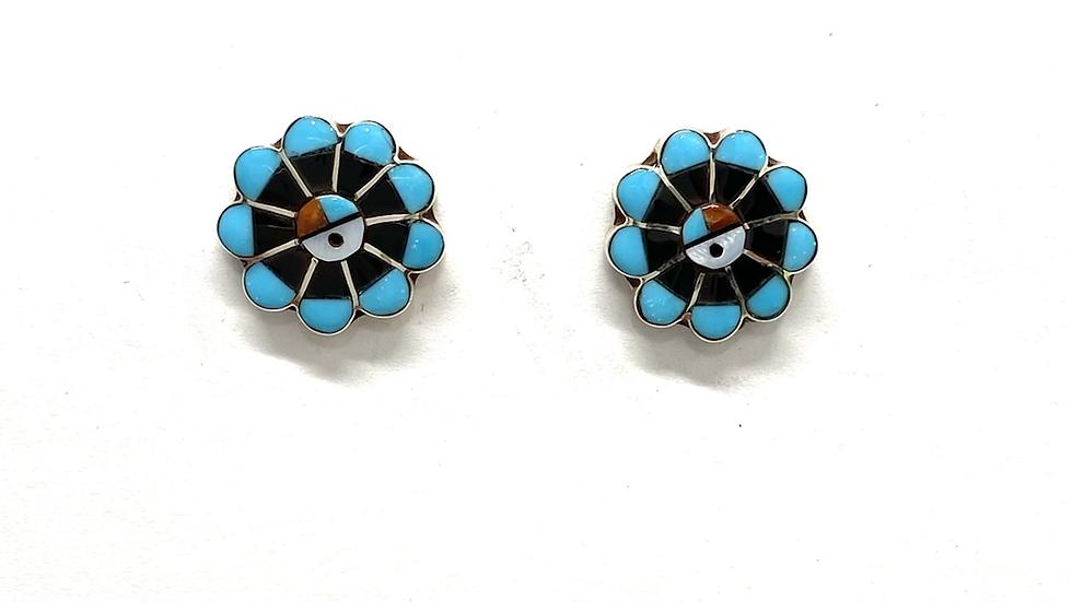 Zuni sun earrings