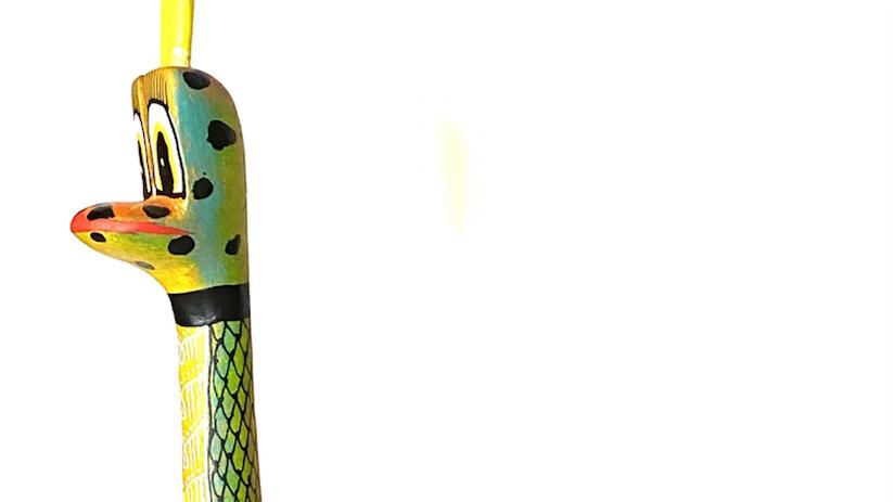 Green Snake Oaxacan Alebrije