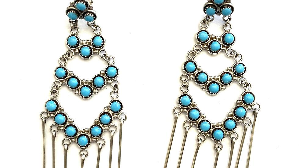 Turquoise Zuni earrings