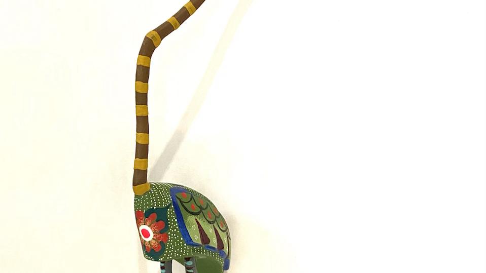 Extra long neck bird Oaxacan Alebrije