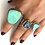 Thumbnail: Deep turquoise silver ring
