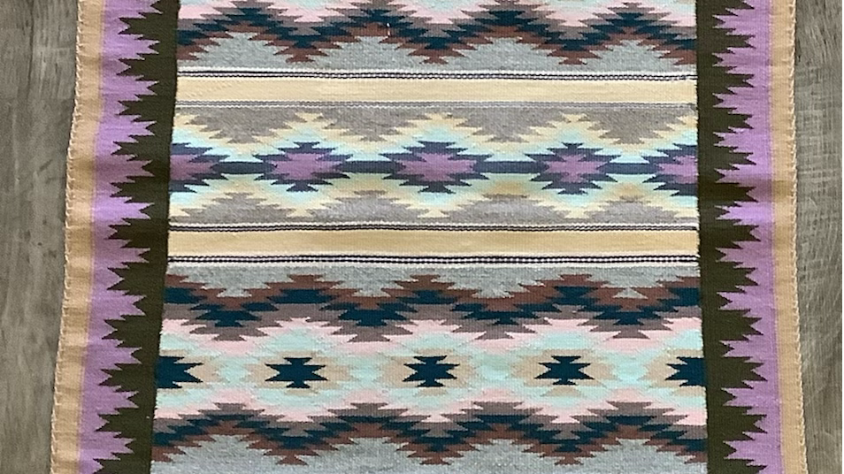 Lavender Navajo rug