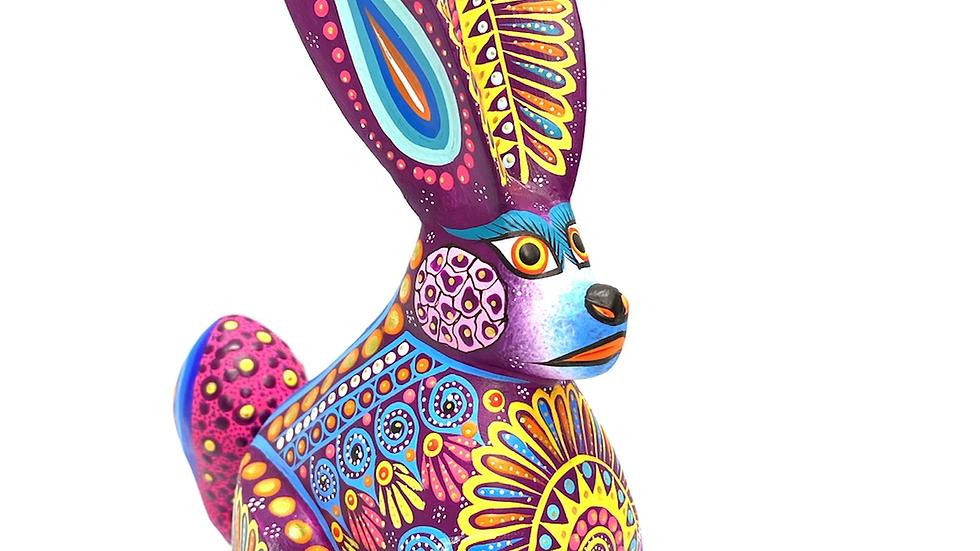 Purple Rabbit Oaxacan Alebrije