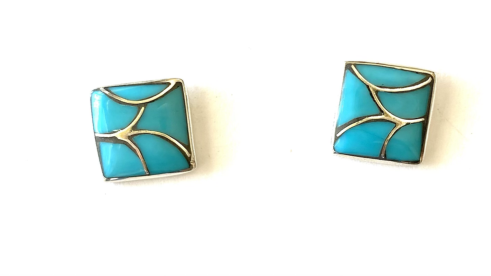 Turquoise inlay posts