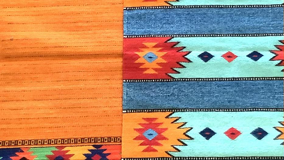 Zapotec rug sky blue
