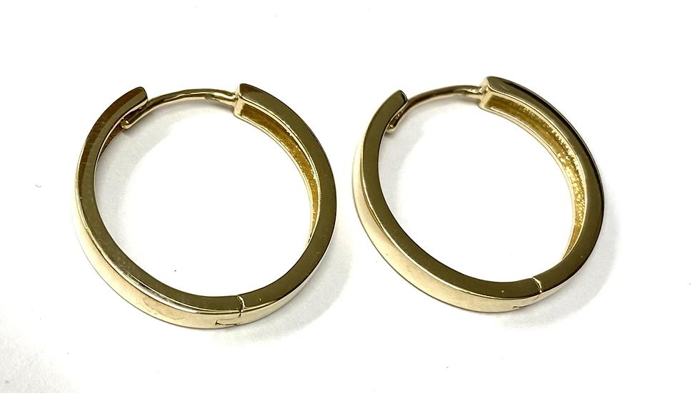 Gold hinged hoops 14 k