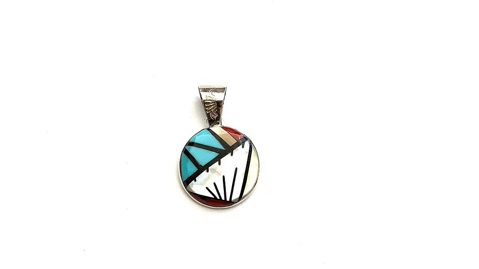 Multi  stone inlay pendant