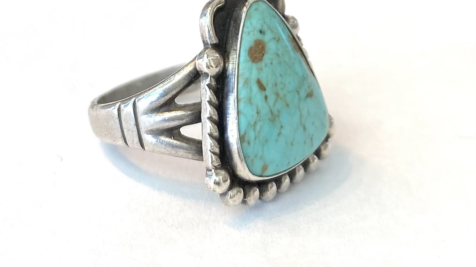 Turquoise silver vintage ring