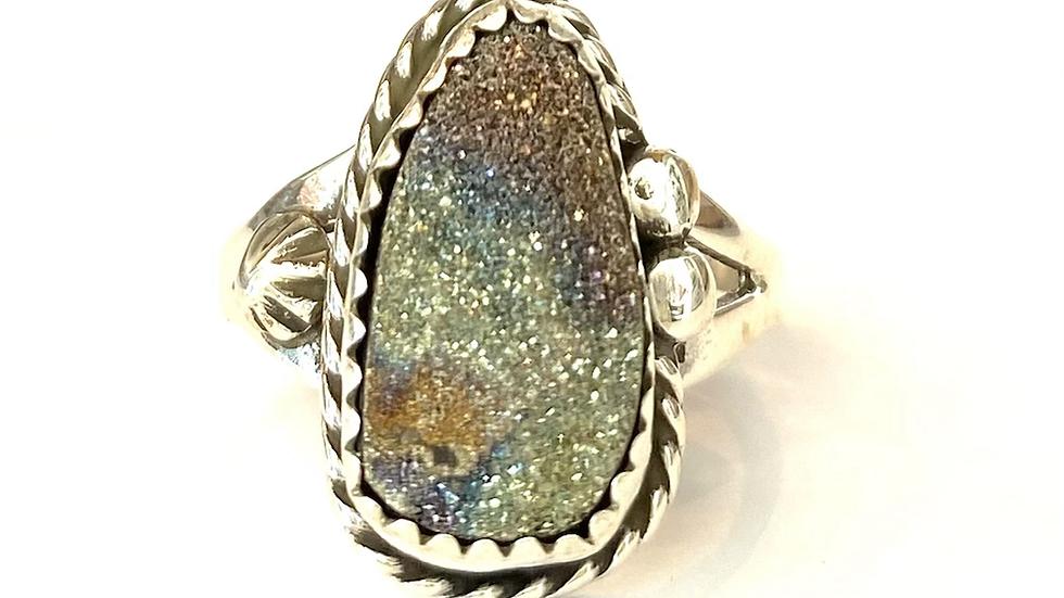 Druzy crystals ring