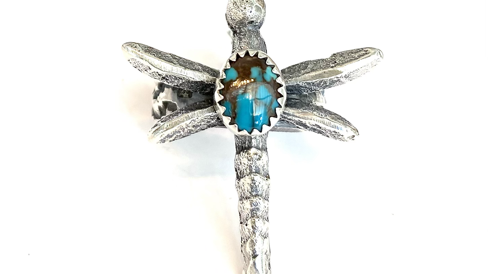 Dragon fly turquoise ring 7.5