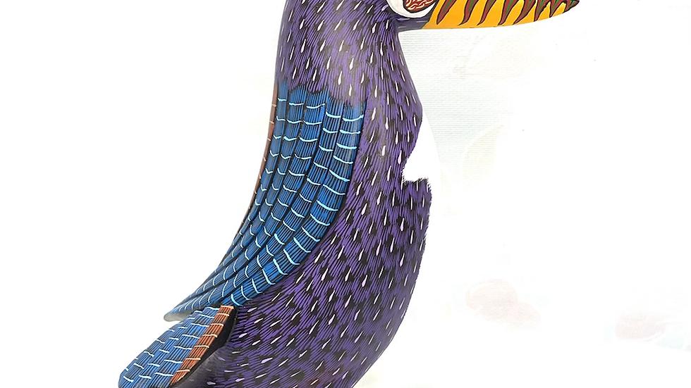 Purple Parrot Oaxacan Alebrije