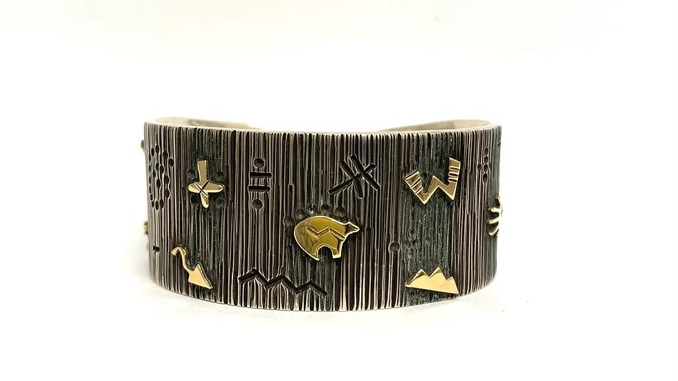 14 k gold and silver bracelet