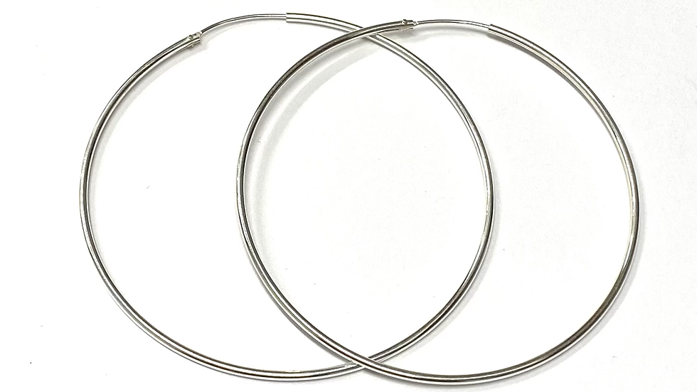 """2.25"""" Hoop earrings"""