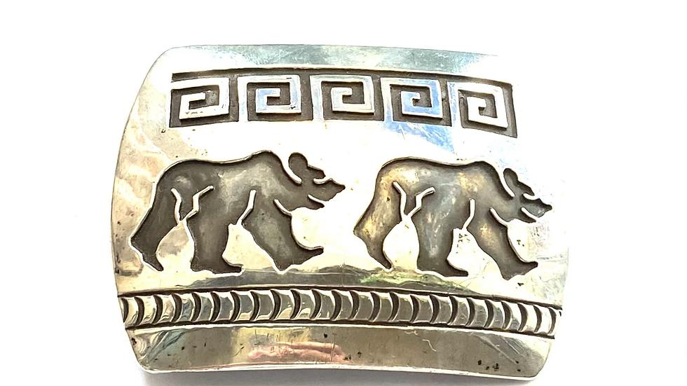 Silver bear buckle