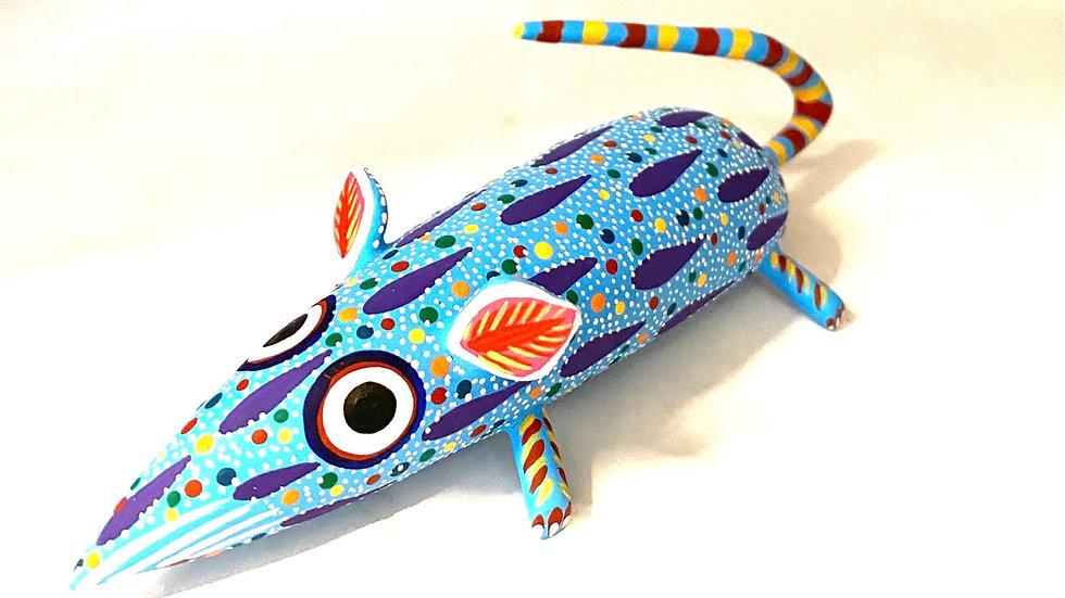 Blue Mouse Oaxacan Alebrije