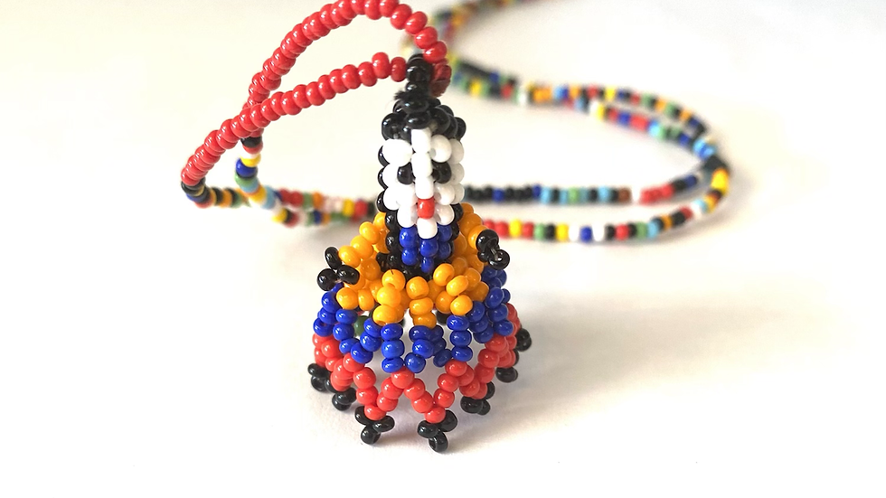 Beaded woman necklace 24 inches