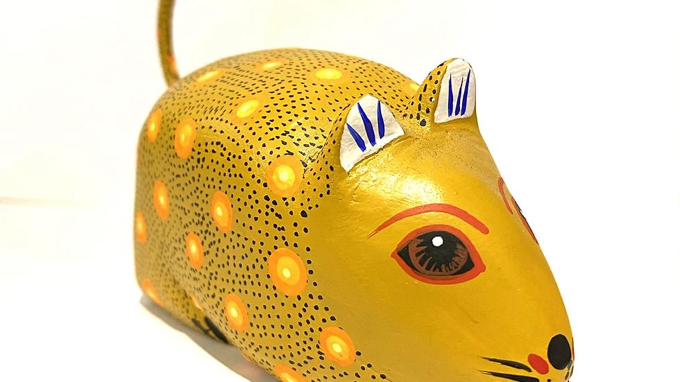 Gold fat rat Oaxacan Alebrije