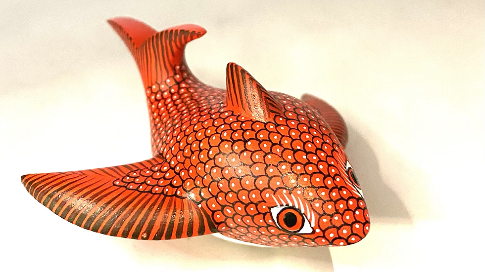Red Fish Oaxacan Alebrije