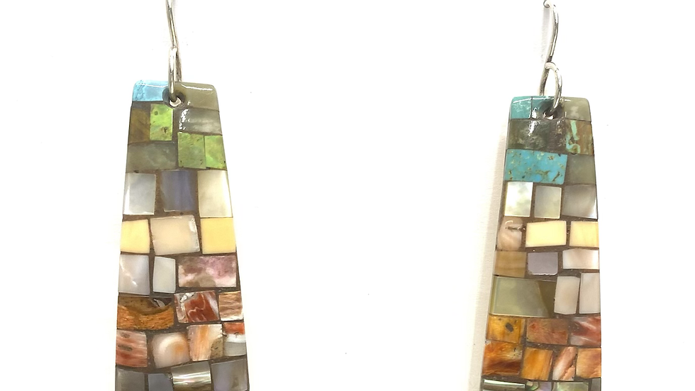 Mosaic earrings turquoise top