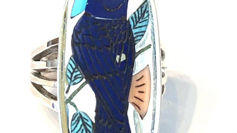 Blue bird ring