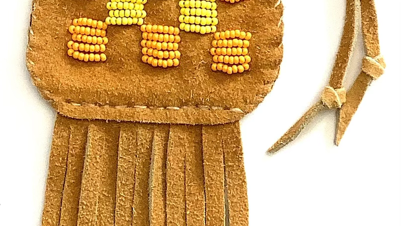 Lakota bead pouch