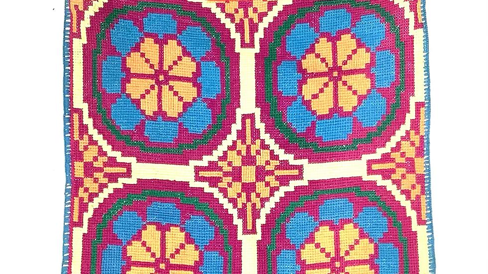 Huichol hand embroidered cross body bag