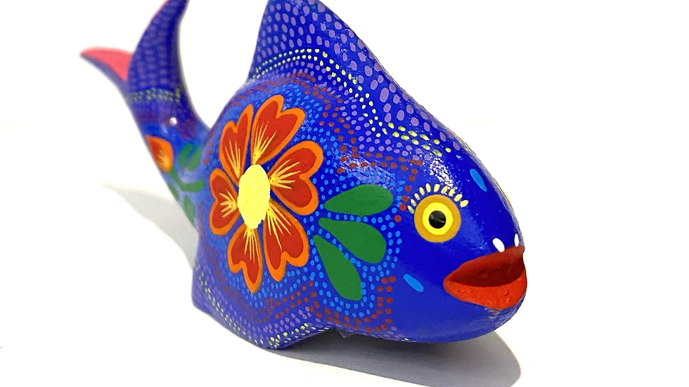 Blue fish Oaxacan Alebrije