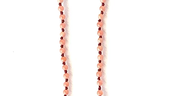 Coral garnet turquoise pearl necklace