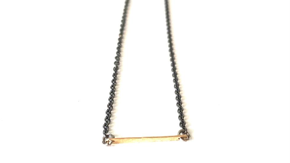 14k gold bar silver chain 16 inches