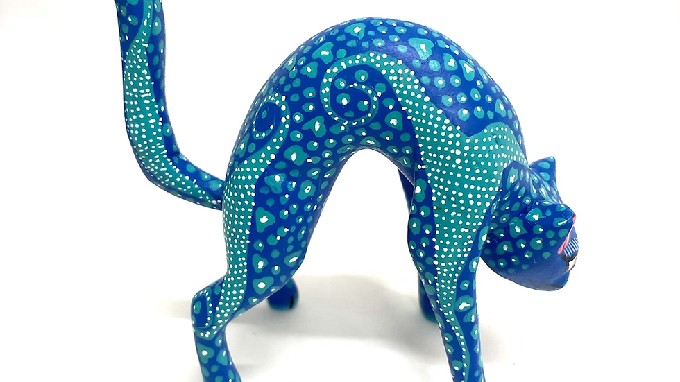Blue Cat Oaxacan Alebrije