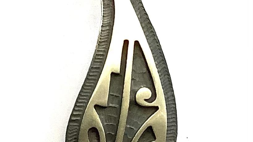Teardrop Hopi pendant