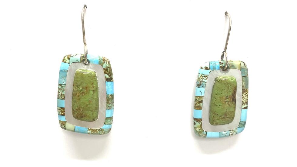 Mosaic Gaspeite earrings