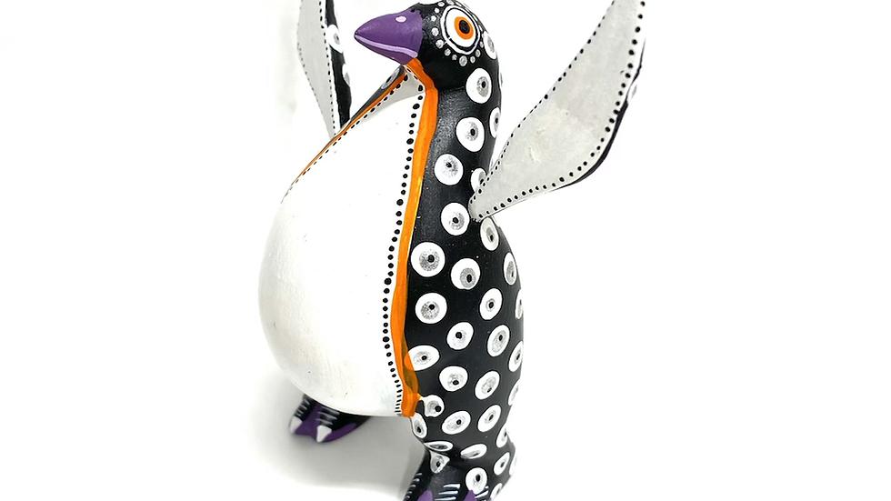 Black and white Penguin Oaxacan Alebrije
