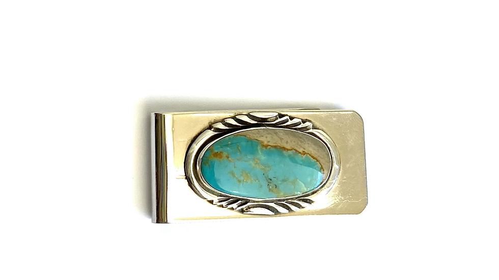 Money clip turquoise