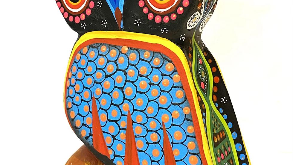 Black Owl Oaxacan Alebrije