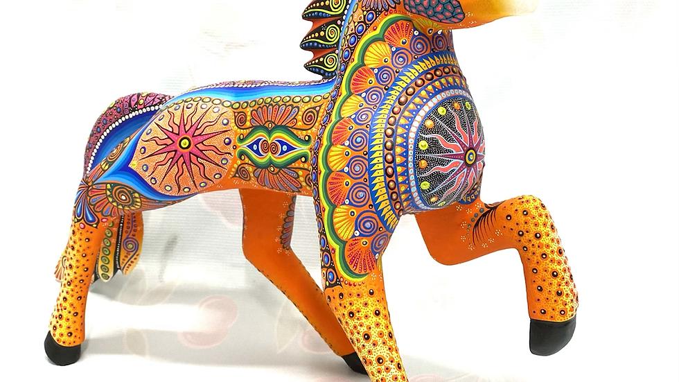 Orange Horse Oaxacan Alebrije