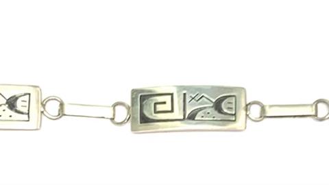 "10"" Hopi silver bracelet"