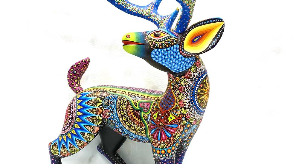 Blue Deer Oaxacan Alebrije