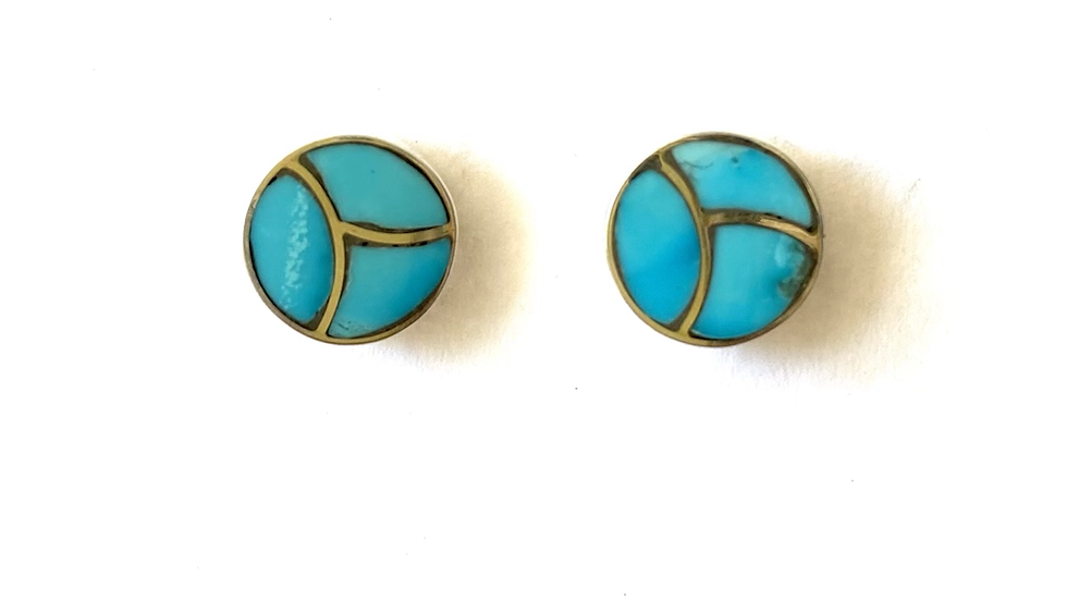 Turquoise inlay post