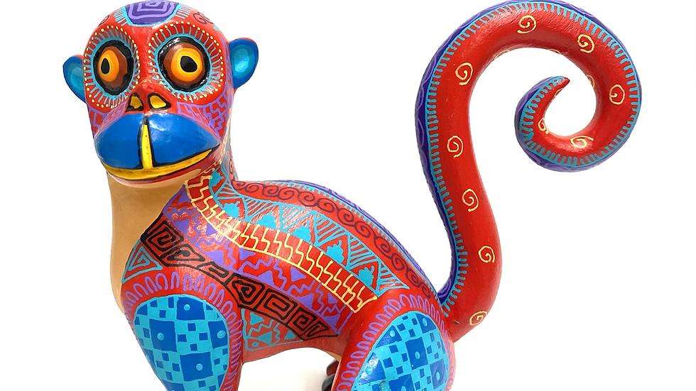 Red Monkey Oaxacan Alebrije