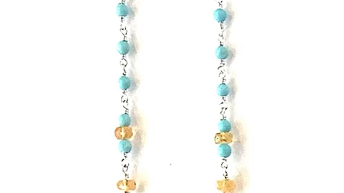 Laborite turquoise opal beaded necklace