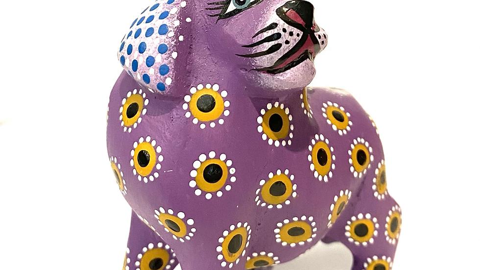 Purple dog Oaxacan Alebrije