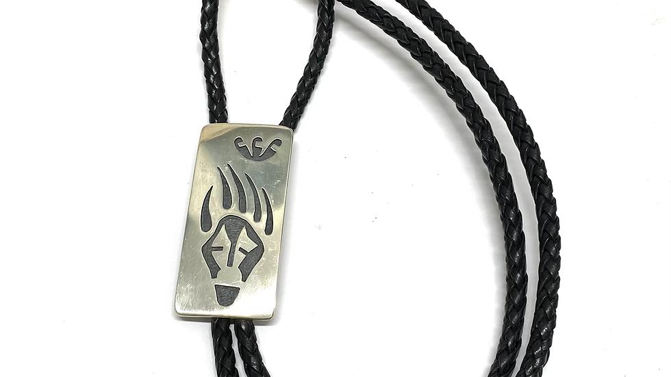 Hopi overlay sterling silver bolo