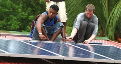 Newly installed solar panels will make a profound impact on the economic state and education of the people living on the outer island of Pakin, Micronesia.